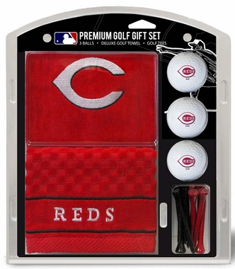 Cincinnati Reds Embroidered Towel Golf Gift Set