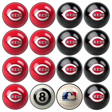 Cincinnati Reds Home and Away Complete Billiard Ball Set