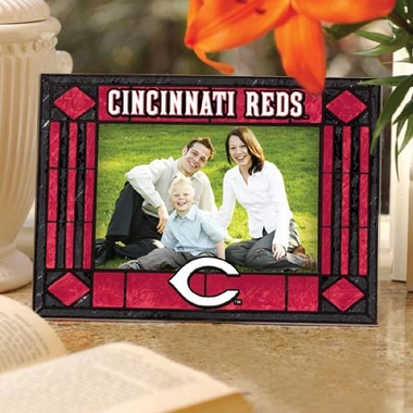 Cincinnati Reds Landscape Art Glass Picture Frame