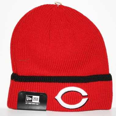 Cincinnati Reds New Era Pop Cuff Knit Cuffed Knit Hat