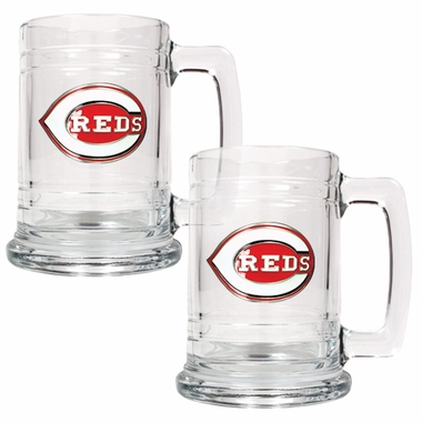 Cincinnati Reds Set of 2 15 oz. Tankards