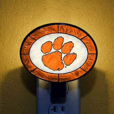 Clemson Art Glass Night Light