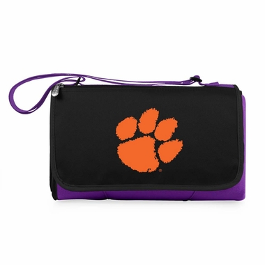 Clemson Blanket Tote (Purple)