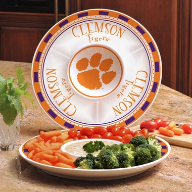 Clemson Ceramic Chip and Dip Plate