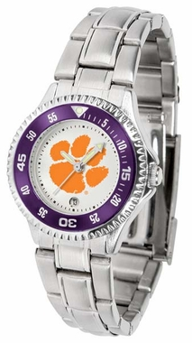 Clemson Competitor Women's Steel Band Watch