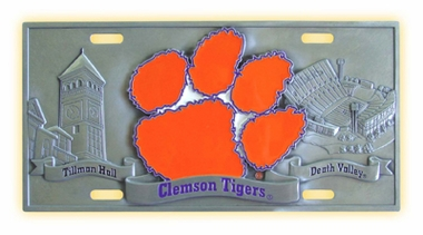 Clemson Deluxe Collector's License Plate