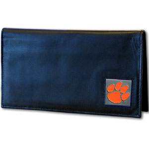 Clemson Leather Checkbook Cover (F)