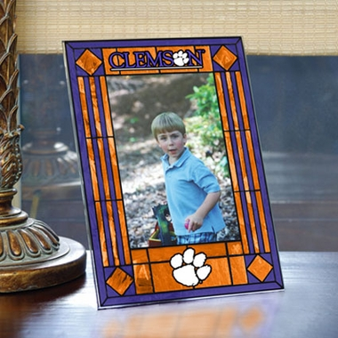 Clemson Portrait Art Glass Picture Frame