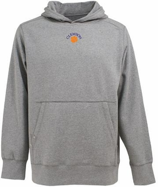 Clemson Mens Signature Hooded Sweatshirt (Color: Silver)