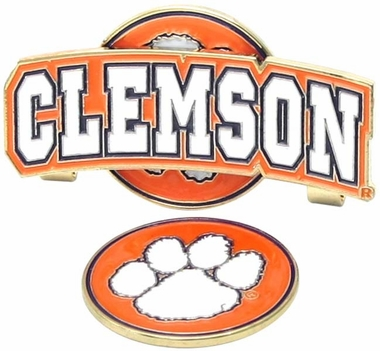 Clemson Slider Clip With Ball Marker