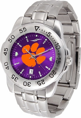 Clemson Sport Anonized Men's Steel Band Watch