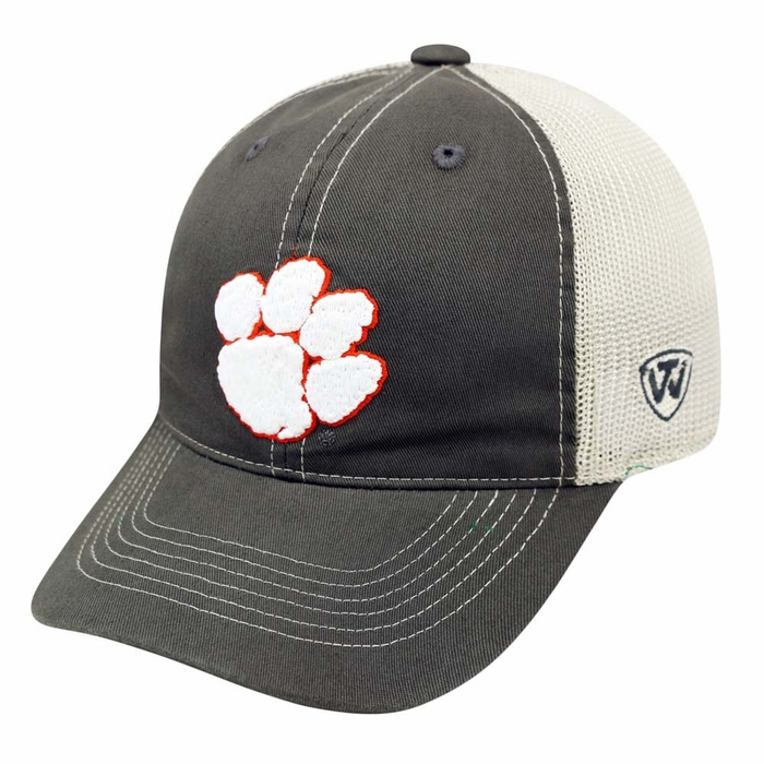 Clemson Fitted Hat: Clemson Tigers Top Of The World Putty Stretch Fit Mesh