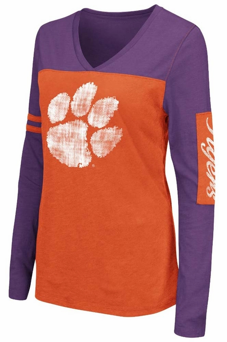 Clemson Tigers Women 39 S Whatevs Long Sleeve V Neck T Shirt