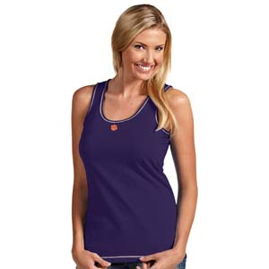Clemson Womens Sport Tank Top (Color: Purple) - Small