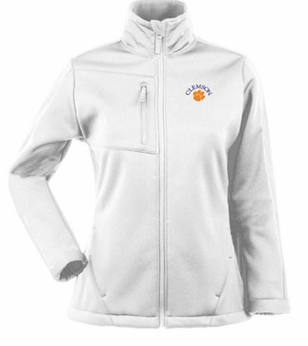 Clemson Womens Traverse Jacket (Color: White)