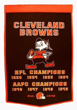 "Cleveland Browns 24""x36"" Dynasty Wool Banner"