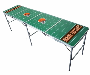 Cleveland Browns 2x8 Tailgate Table