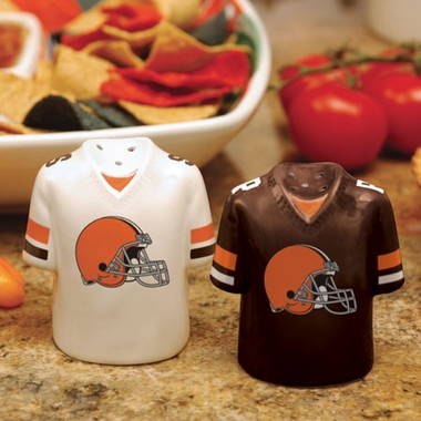 Cleveland Browns Ceramic Jersey Salt and Pepper Shakers