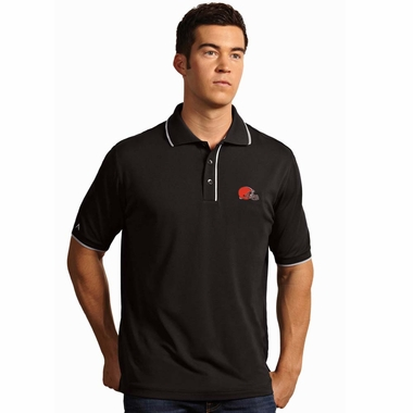 Cleveland Browns Mens Elite Polo Shirt (Color: Black) - Small