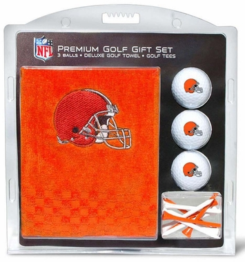 Cleveland Browns Embroidered Towel Golf Gift Set