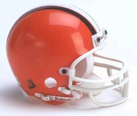 Cleveland Browns 2006-14 Throwback Replica Mini Helmet w/ Z2B Face Mask
