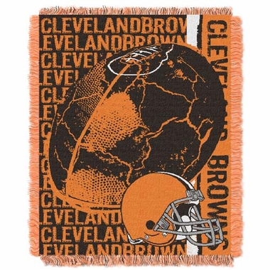 Cleveland Browns Jacquard Woven Throw Blanket