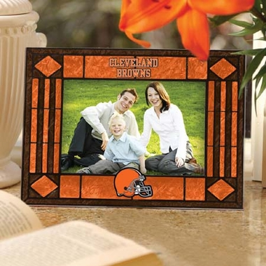 Cleveland Browns Landscape Art Glass Picture Frame