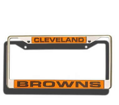 Cleveland Browns Laser Etched Chrome License Plate Frame