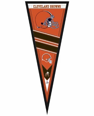 "Cleveland Browns Pennant Frame - 13""x33"" (No Glass)"