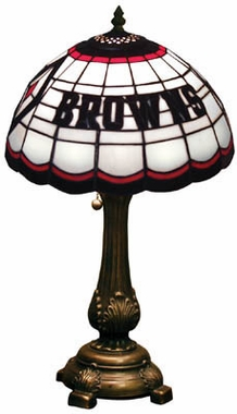 Cleveland Browns Stained Glass Table Lamp