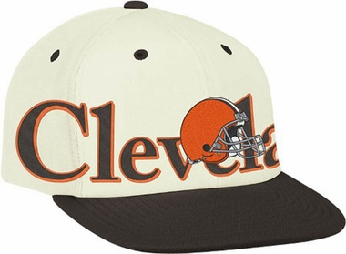 Cleveland Browns Team Name and Logo Snapback Hat