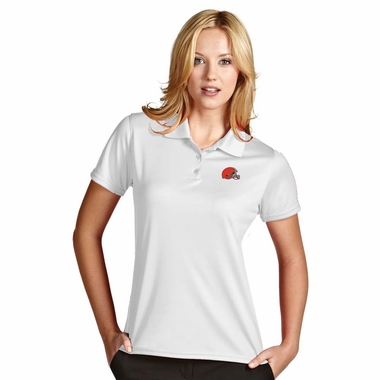 Cleveland Browns Womens Exceed Polo (Color: White) - Large
