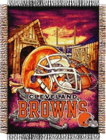 Cleveland Browns Woven Tapestry Throw Blanket