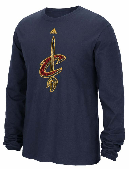 Cleveland cavaliers adidas tech quilt premium print l s for Cleveland t shirt printing