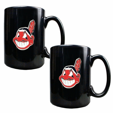 Cleveland Indians 2 Piece Coffee Mug Set