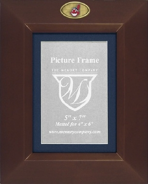Cleveland Indians BROWN Portrait Picture Frame