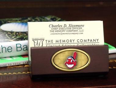 Cleveland Indians Business Card Holder