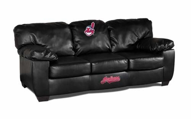Cleveland Indians Leather Classic Sofa
