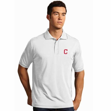 Cleveland Indians Mens Elite Polo Shirt (Color: White)
