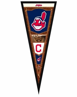 "Cleveland Indians Pennant Frame - 13""x33"" (No Glass)"