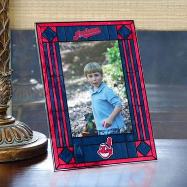 Cleveland Indians Portrait Art Glass Picture Frame
