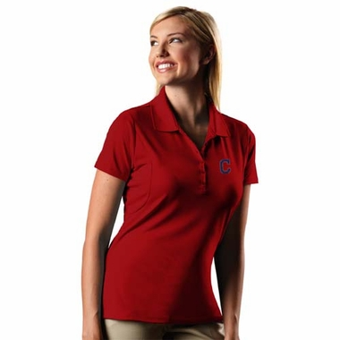 Cleveland Indians Womens Pique Xtra Lite Polo Shirt (Color: Red)