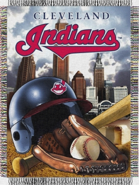 Cleveland Indians Woven Tapestry Throw Blanket