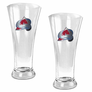 Colorado Avalanche 2 Piece Pilsner Glass Set
