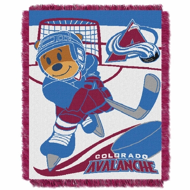 Colorado Avalanche Jacquard BABY Throw Blanket