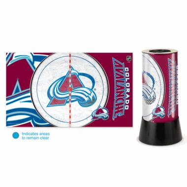 Colorado Avalanche Rotating Lamp