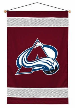 Colorado Avalanche SIDELINES Jersey Material Wallhanging