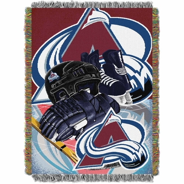 Colorado Avalanche Woven Tapestry Blanket