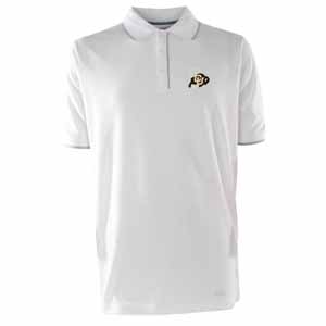 Colorado Mens Elite Polo Shirt (Color: White) - Small