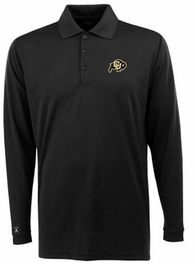 Colorado Mens Long Sleeve Polo Shirt (Color: Black)